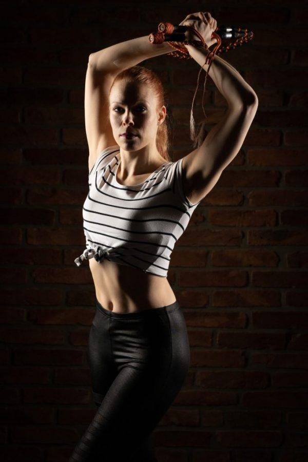 Whip Cracking Show Artist Annika Hakala