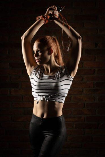 Annika Hakala Circus Artist Whip Cracking Show Event Gala Varieté